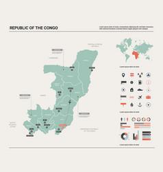 Map congo high detailed country vector