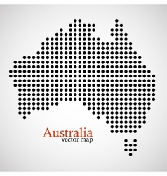 Map of Australia from round dots vector image vector image