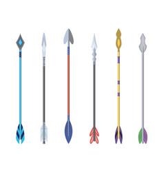 Medieval arrows set fighting decorative cartoon vector