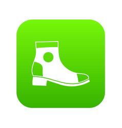 men boot icon digital green vector image