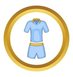 Men tennis uniforms icon vector