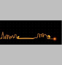miami light streak skyline vector image