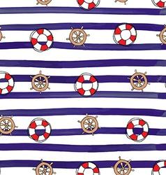 Nautical Stereeng wheel Seamless Pattern vector image