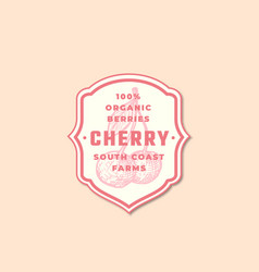 organic cherry abstract sign symbol or vector image
