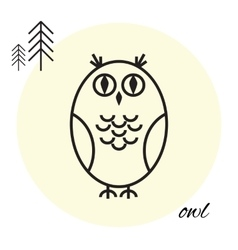 owl thin line icon vector image