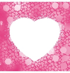 Pastel Heart bokeh frame with copy space EPS 8 vector image