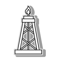 Petroleum oil pump icon vector