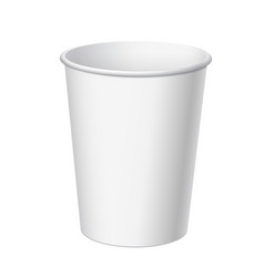 Realistic disposable plastic cup vector
