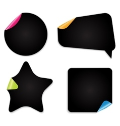 Realistic Paper Stickers Isolated on White vector