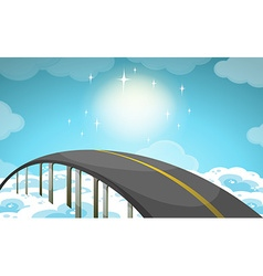 Road over the sky vector