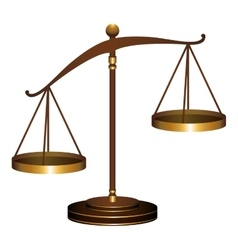 scale of justice law vector image