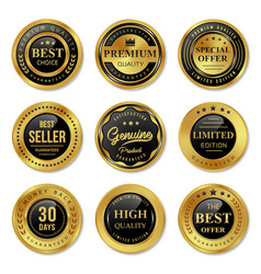 seal quality labels design vector image