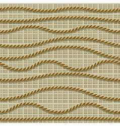 seamless ropes vector image