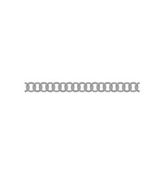 Seamless silver chain made small metal rings vector