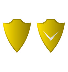 shield flat icon security icon vector image