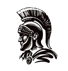 Spartan warrior gladiator or roman soldier vector image