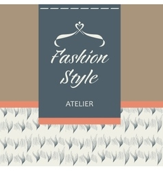 Tailoring fabric fur and leather logo vector
