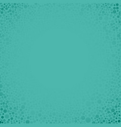 Teal bubbles circles on teal background vector