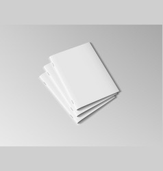 Three a4 or a5 clear brochures with shadow vector