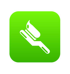 toothbrush icon green vector image