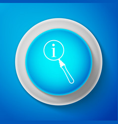 white magnifying glass and information icon vector image