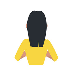 young woman back vector image