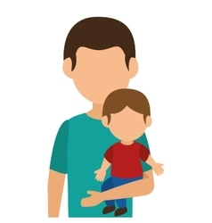 Cute family member on vacations vector