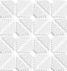 Diagonal white wavy lines and squares layered vector image vector image
