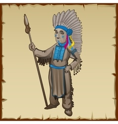 Traditional statuette of the Indians vector image