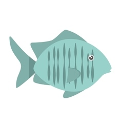 tropical fish sea habitat graphic vector image