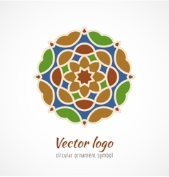Abstract colorful asian ornament symbol logo vector image