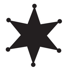 sheriff star icon in trendy flat style isolated vector image