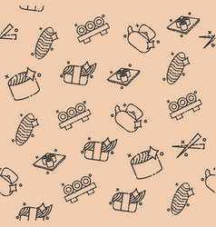 sushi concept icons pattern vector image