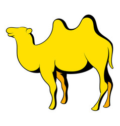 camel icon cartoon vector image