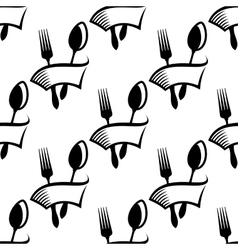 Catering or food icon seamless pattern vector image