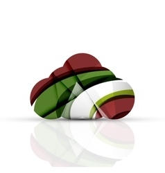 Cloud computing logo vector image