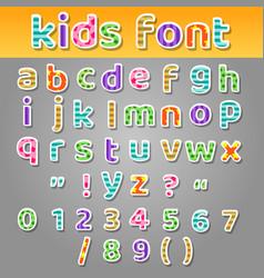 cute kids patchwork patterns alphabet vector image vector image