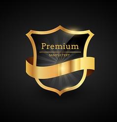 premium luxury golden label design vector image