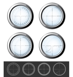 Sniper crosshairs set vector image vector image