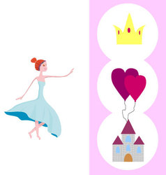 Wishes to princess vector