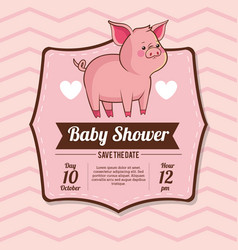 baby shower card invitation save the date vector image vector image