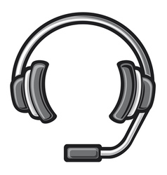 call center headset vector image vector image
