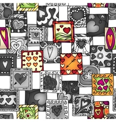 Collection of original drawing doodle hearts vector image vector image