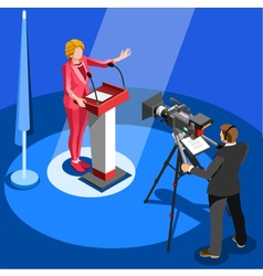 Election News Infographic Us Spokesperson vector image vector image