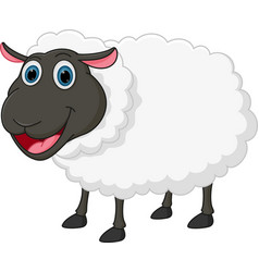 happy sheep cartoon vector image vector image
