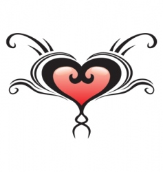 heart crest tattoo vector image