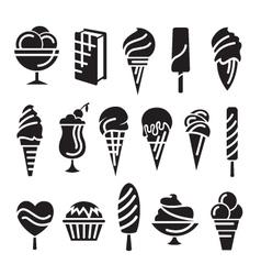 ice creams set vector image vector image