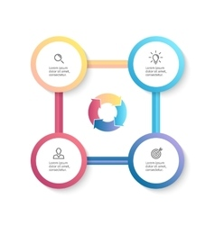 Infographic business template with 4 options vector image vector image