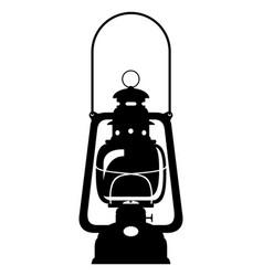 Kerosene lamp old retro vintage icon stock vector