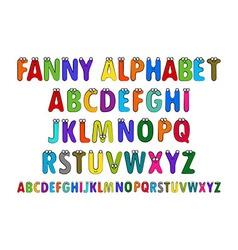 Letters Alphabet for Children Education vector image
